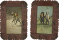 Advertising:Trays, Theodore Roosevelt: Pair of Roosevelt Bears Tip Trays....