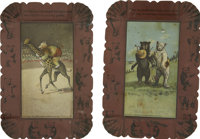 Theodore Roosevelt: Pair of Roosevelt Bears Tip Trays