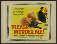 "Please Murder Me Lot (DCA, 1956). Half Sheets (3) (22"" X 28""). Crime.... (Total: 3 Items)"