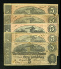 Confederate Notes:1864 Issues, T69 $5 1864.. ... (Total: 5 notes)