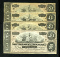 Confederate Notes:1864 Issues, T67 $20 1864.. ... (Total: 4 notes)