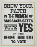 Political:Posters & Broadsides (1896-present), Massachusetts Woman Suffrage Society Broadside....