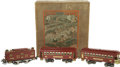 Antiques:Toys, Lionel Standard Gauge 347 Model Set in the Box... (Total: 4 Items)