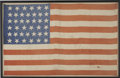 "Political:Textile Display (pre-1896), United States 39-Star Printed Silk Flag, 15"" x 23.5"". The flag'sstars represent the thirty-ninth state to enter the union...."