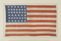 Antiques:Decorative Americana, Large Silk 39 Star American Flag for North Dakota....