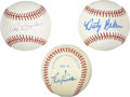 Autographs:Baseballs, Lou Piniella, Al Dark, and Dusty Baker Single Signed Baseballs Lotof 3 with Joe Torre Signed First Day Cover. Three offici...