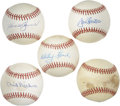 Autographs:Baseballs, Vintage Stars Single Signed Baseballs Lot of 5. Superb quintet ofsingle signed official orbs each contains a sweet spot si...