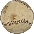 Autographs:Baseballs, Chief Bender Single Signed Baseball. Rare and highly desirable,this classic ONL orb with the vintage red and black stitchi...