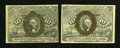 Fractional Currency:Second Issue, Fr. 1245 10c Second Issue Choice About New.. Fr. 1246 10c Second Issue Very Fine.... (Total: 2 notes)