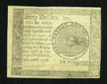Colonial Notes:Continental Congress Issues, Continental Currency Counterfeit Detector September 26, 1778 $60Extremely Fine....