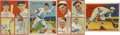 Baseball Cards:Lots, 1934-1936 Diamond Stars and Goudey Baseball Collection of 4. Includes 1934-36 Diamond Stars #4 Buddy Myer, 17 Frankie Frisch...