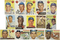 Baseball Cards:Lots, 1953-1958 Baseball Brooklyn/Los Angeles Dodgers Collection of 14. Includes 1953 Topps #76 Pee Wee Reese (HOF) (F/G), 81 Joe ...