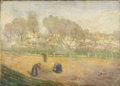 Fine Art - Painting, European:Antique  (Pre 1900), CONTINENTAL SCHOOL (Early 19th Century). Burning the Field.Oil on canvas. 13 x 18 inches (33.0 x 45.7 cm). ...