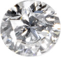 Estate Jewelry:Unmounted Diamonds, Unmounted Diamond. The unmounted round brilliant-cut diamondmeasures 5.45 x 5.53 x 3.37 mm and weighs 0.62 carat. A GIA ...