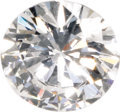 Estate Jewelry:Unmounted Diamonds, Unmounted Diamond. The unmounted round brilliant-cut diamondmeasures 5.48 x 5.51 x 3.14 mm and weighs 0.55 carat. A GIA G...