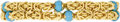 Estate Jewelry:Bracelets, Turquoise, Gold Bracelet, Tiffany & Co.. The bracelet featuresturquoise beads measuring approximately 6.00 - 5.50 mm, set...
