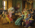 Fine Art - Painting, European:Modern  (1900 1949)  , FRANZ DVORAK (Austrian 1862-1927). Bedrich Smetana And HisFriends In 1865, 1923. Oil on canvas. 49-1/4 x 63-1/2 inches...