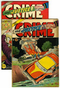 """Golden Age (1938-1955):Crime, Crime and Justice #9 and 10 Group - Davis Crippen (""""D"""" Copy) pedigree (Charlton, 1952).... (Total: 2)"""