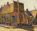 Texas:Early Texas Art - Regionalists, LLOYD GOFF (1908-1982). Country Store, late 1920s to early1930s. Oil on unstretched canvas. 9in. x 12in.. Signed lower ...