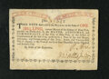 Colonial Notes:New York, New York August 25, 1774 (Water Works) 1s New. An enigmatic examplefrom this first Water Works issue that has the margins a...