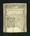Colonial Notes:Connecticut, Connecticut June 7, 1776 2s/6d SC About New. This well margined andwell embossed note is printed on crisp white paper that ...