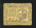 Colonial Notes:Continental Congress Issues, Continental Currency May 9, 1776 $2 Fine. This early Continentalnote has even circulation and a small tear at the top....