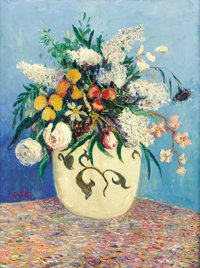 ELISÉE MACLET (French, 1881-1962) Bouquet of Wild Flowers Oil on canvas 25-1/2 x 19-1/2 inches (6