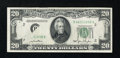 Error Notes:Obstruction Errors, Fr. 2059-B $20 1950 Federal Reserve Note. Very Fine+.. ...