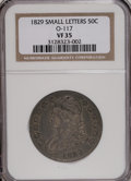 Bust Half Dollars: , 1829 50C Small Letters VF35 NGC. O-117. NGC Census: (19/780). PCGSPopulation (34/796). Mintage: 3,712,156. Numismedia Wsl...