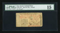 Colonial Notes:New Jersey, New Jersey April 16, 1764 L3 PMG Choice Fine 15....
