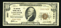 National Bank Notes:Pennsylvania, Lancaster, PA - $10 1929 Ty. 1 The Conestoga NB Ch. # 3987. ...