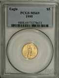 Modern Bullion Coins: , 1995 G$5 Tenth-Ounce Gold Eagle MS69 PCGS. PCGS Population (808/8).NGC Census: (1167/122). Mintage: 223,025. Numismedia Ws...