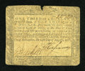 Colonial Notes:Maryland, Maryland August 14, 1776 $1/3 Very Good....