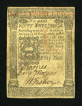 Colonial Notes:Pennsylvania, Pennsylvania October 1, 1773 50s About New....