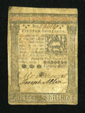 Colonial Notes:Pennsylvania, Pennsylvania October 1, 1773 15s Very Fine....