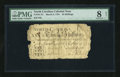 Colonial Notes:North Carolina, North Carolina March 9, 1754 30s PMG Very Good 8 Net....