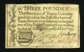 Colonial Notes:North Carolina, North Carolina December, 1771 £3 Very Fine-Extremely Fine....