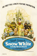 "Movie Posters:Animated, Snow White and the Seven Dwarfs (RKO, 1937). One Sheet (27"" X 41"")Style B...."