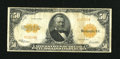 Large Size:Gold Certificates, Fr. 1200a $50 1922 Mule Gold Certificate Fine-Very Fine....