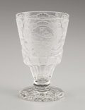Art Glass:Other , PROPERTY FROM THE ESTATE OF TOMMY LEE MILES. A BOHEMIAN GLASSGOBLET. 18th Century. Marks: artist's monogram MN. 5-1/4...