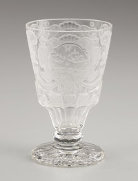 PROPERTY FROM THE ESTATE OF TOMMY LEE MILES  A BOHEMIAN GLASS GOBLET 18th Century Marks: artist's monogra
