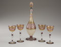 Art Glass:Other , PROPERTY FROM THE ESTATE OF TOMMY LEE MILES. A FRENCH GLASSDECANTER SET. Attributed to St. Louis, Late 19th-Early 20th Ce...(Total: 5 Items)