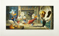 """Original Comic Art:Miscellaneous, Carl Barks - """"Golden Fleece"""" Limited Edition Serigraph, numbered99/500 (Disney Art Editions).... (Total: 2 Items)"""
