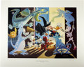 "Original Comic Art:Miscellaneous, Carl Barks - ""Halloween in Duckburg"" Regular Edition Lithograph#14/395 (Another Rainbow, 1992)...."