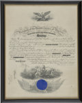 Autographs:U.S. Presidents, [Warren G. Harding] Presidential Appointment Signed by Edwin Denby,Secretary of the Navy...