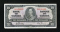 Canadian Currency: , BC-24b $10 1937.. ...