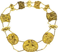 Rare Chinese Gold Imperial Necklace Work of the Symbol of the Empress of China, most likely the Empress Dowager Cixi, ci...