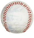 Autographs:Baseballs, 1981 Los Angeles Dodgers Team Signed Baseball. Under the rule ofskipper Tommy Lasorda, the 1981 Los Angeles Dodgers took h...
