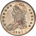 Bust Half Dollars, 1807 50C Capped Bust, Small Stars AU50 NGC....
