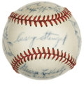 Autographs:Baseballs, 1942 Boston Braves Team Signed Baseball. The Hall of Fame skipper Casey Stengel, best-known for his time in charge of the N...